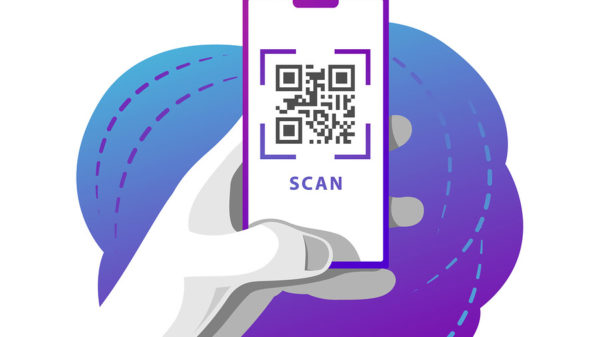 Phone With Qr Code Scan Screen